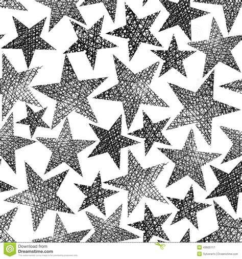 star pattern black and white stars seamless pattern vector repeating black and white