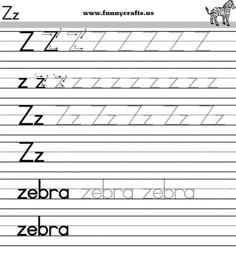 printable handwriting worksheets a z letter z handwriting worksheets for preschool to first