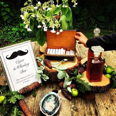 whiskey themed events cigar and whiskey bar for the groom and his men whiskey