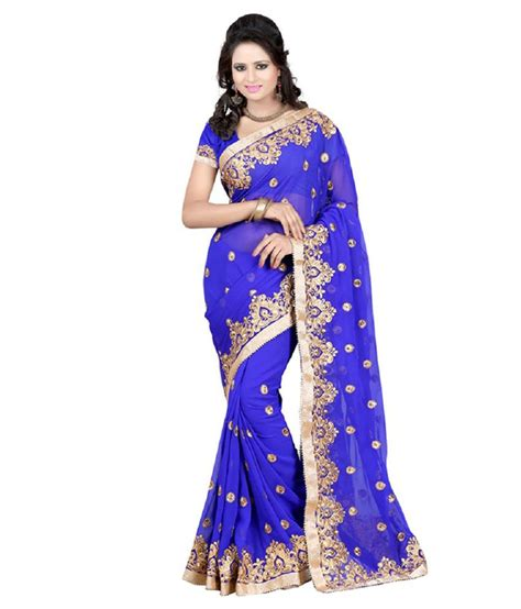 Designer Kitchen Scales by Sareeshop Designer Sarees Blue Chiffon Saree Snapdeal