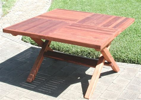 Redwood Rectangular Folding Picnic Table With Fold Up Legs