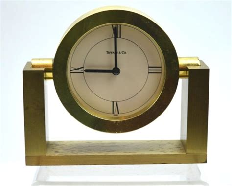 tiffany co brass desk clock tiffany co solid brass desk mantle clock