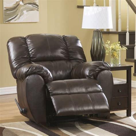 dylan rocker recliner ashley dylan leather rocker recliner in espresso 7060325