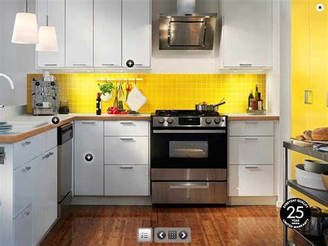 kitchens idea ikea yellow and white kitchen design interior design ideas