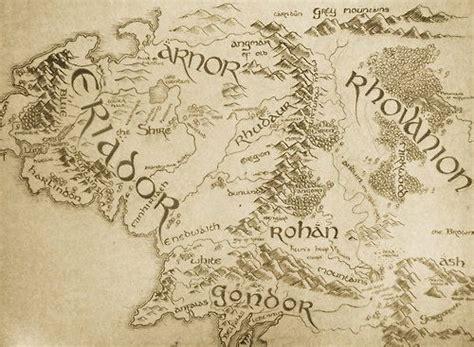 lotr map lotr the o jays and lord of the rings on
