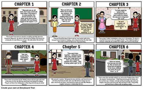 themes in to kill a mockingbird chapter 1 to kill a mockingbird chapter 1 6 storyboard by melaniegav