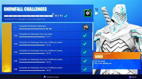 snowfall challenges skin unlocked unlock