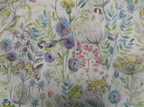 floral curtain fabric voyage decoration lythmore hedgerow linen floral designer