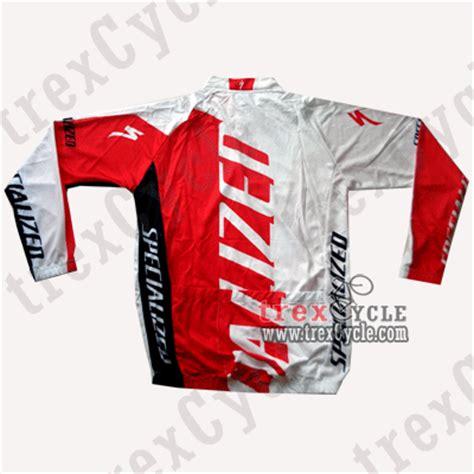 Jersey Sepeda Murah Shimano Fox Merah Tangan Panjang trexcycle indonesia toko aksesoris sepeda jersey