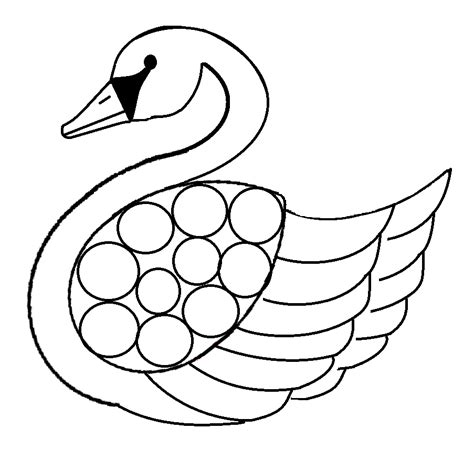 free coloring pages of swan and baby
