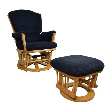 navy accent chair with ottoman 76 off dutailier dutailier navy sleigh reclining glider