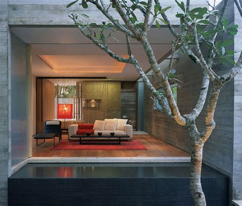 living room water feature water feature sunset vale house singapore by wow architects