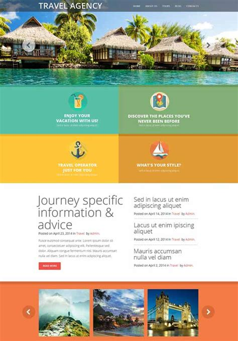 60 excellent travel website templates free premium