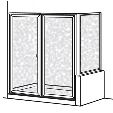 American Standard Am00892 436 213 Hammered Glass Prestige Hammered Glass Shower Door