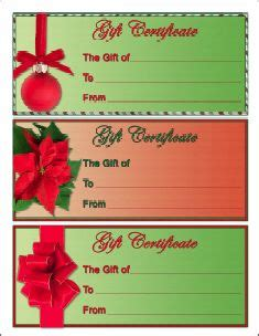 Christmas Gift Certificate Template Gift Certificates Pinterest Gift Certificate Template Santa Iou Template
