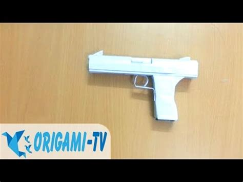 How To Make A Pistol Out Of Paper - how to make a paper gun that shoots pistol easy part 1