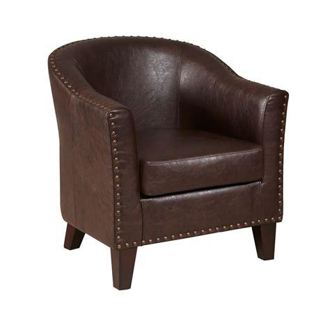 brown faux leather amazon com pulaski faux leather barrel accent
