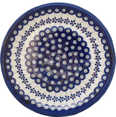 polish pottery dinner plate pattern number 233ar polish pottery dinner plate pattern number 166a