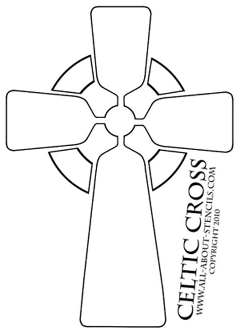 Celtic Stencils Cross Stencils And Free Stencils Crosswalk Paint Template