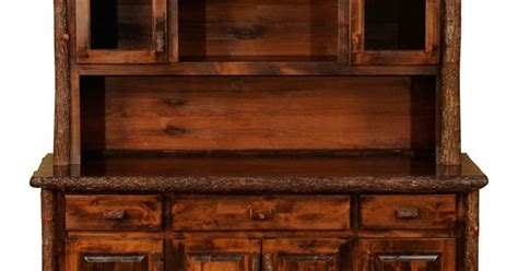 Kitchen Cabinet Joinery rustic dining hutch rustic hickory 75 quot buffet amp hutch