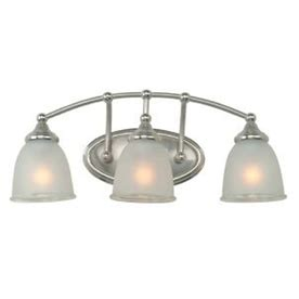 portfolio 3 light brushed nickel bathroom vanity light shop portfolio 3 light brushed nickel bathroom vanity