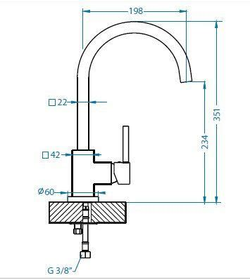 Kitchen Mixer Dimensions 1200mm Lay On Sit On Kitchen Sink Bowls