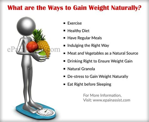 Ways To Gain Weight by How To Gain Weight Naturally In A Healthy Way How To