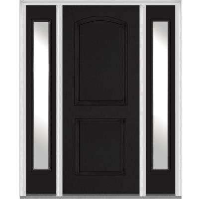 2 Panel Exterior Door Single Door With Sidelites Front Doors Exterior Doors The Home Depot