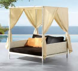 Canopy Bed Outdoor Deluxe Patio Swing Daybed With Canopy Wooden Global