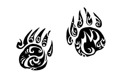 tribal bear paw tattoo designs claw designs paw tribal sketch