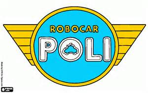 logo poli coloring printable logo poli