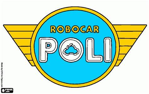 logo poli coloring page printable logo poli
