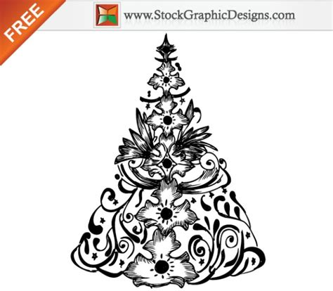dibujado a mano 193 rbol de navidad ilustraci 243 n vectorial