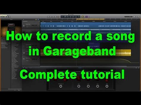 Garageband Beginner Tutorial Garageband Tutorial Beginners How To Make A Song Using