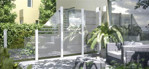 garten sichtschutzzaun trennwand garten glas design ideen