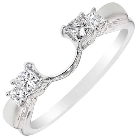 engagement ring laced semi halo wrap wedding band bridal