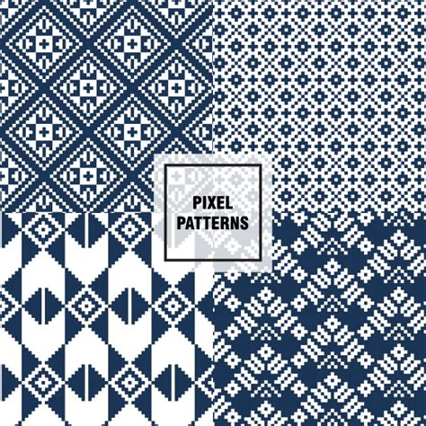 pixel pattern ai blue pixel patterns vector free download