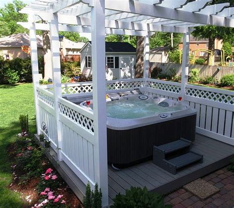 jacuzzi backyard 8 ways to place your original outdoor jacuzzi