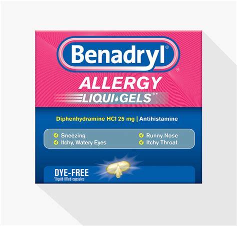 benadryl for allergies benadryl 174 allergy dye free liquigels benadryl 174