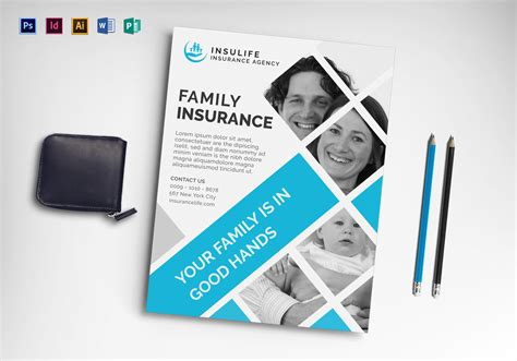 Insurance Flyer Design Template In Word Psd Publisher Illustrator Indesign Insurance Flyer Templates