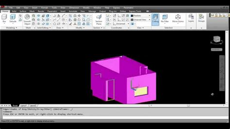 autocad tutorial greek autocad tutorial for beginners house 3d step2 presspull