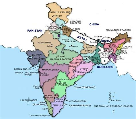 indian states map of indian states