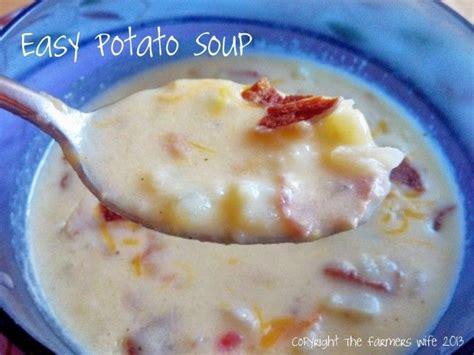 easy potato soup good food pinterest