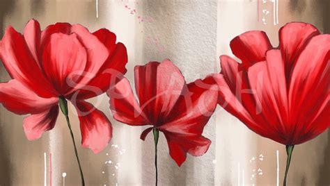 cuadro con flores cuadros de flores grandes rojos marrones sepia modernos
