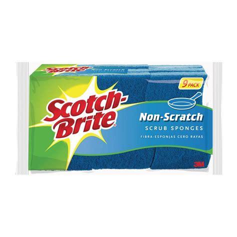 non scratch sponge scourers 10pk scotch brite non scratch scrub sponge 9 pack 529 the