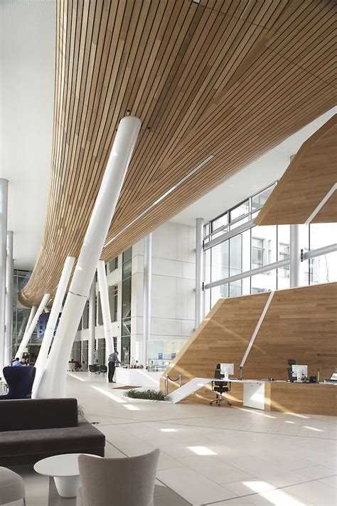 Douglas Ceilings by Douglas Solid Wood Linear Open Ceiling System Was