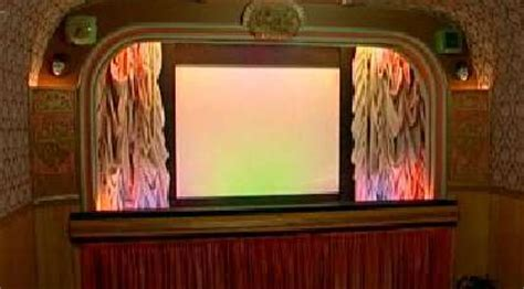 diy retro cinema pensioner turns  shed   vintage
