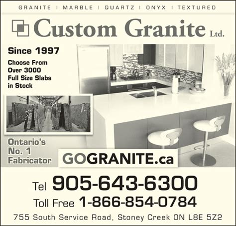 Granite Countertops Stoney Creek by Custom Granite Marble Ltd 755 South Service Rd Stoney