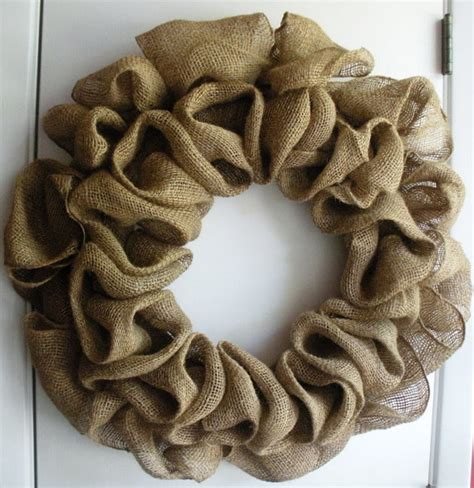 how to make a wreath with burlap burlap wreath tutorial