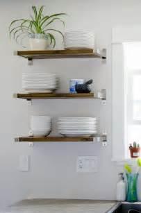 kitchen shelves wall 25 best ideas about kitchen shelves on open